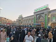 Photos: Between the two holy shrines; Imam Hussain and al-Abbas (pbut) / 2nd April 2021