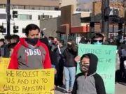 المسلمون بمدينة سولت ليك سيتي الامريكية يطالبون بوقف قتل الشيعة في باكستان