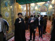القائم بالاعمال في سفارة اذربيجان يزور مرقد الامام الحسين (ع)